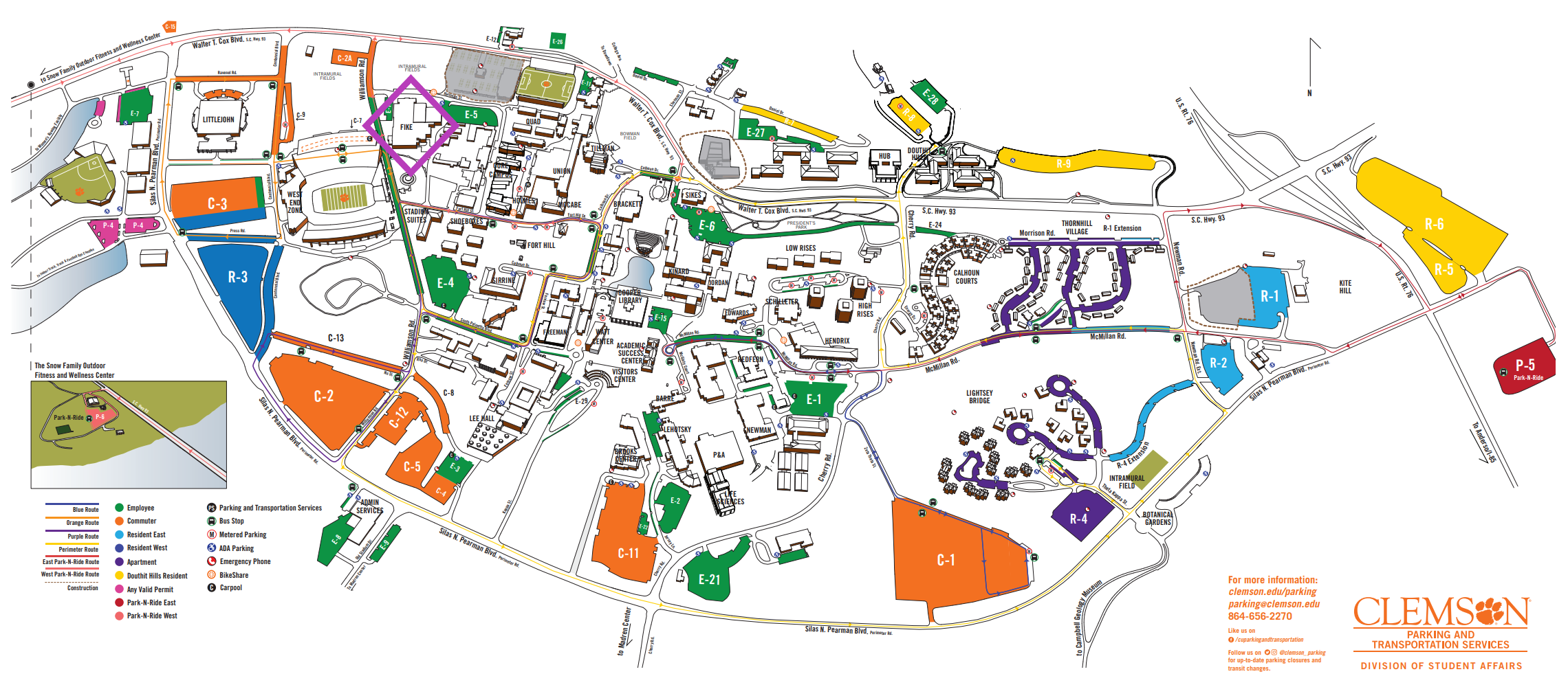 furman university campus map Furman At Clemson Tailgate Furman University furman university campus map